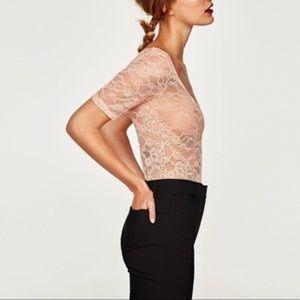 NWT ZARA | Lace Bodysuit | Small